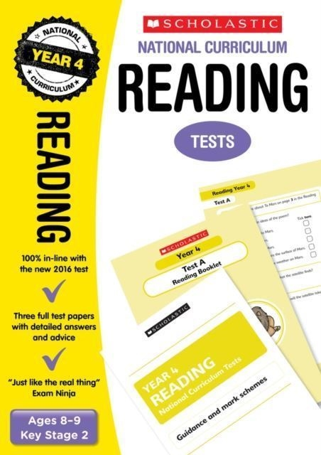 Scholastic YEAR 4 EXAM PACK [5 BOOKS] KS2 SATS REVISION BOOKS & PRACTICE  TESTS FOR MATHS AND ENGLISH  FREE P&P